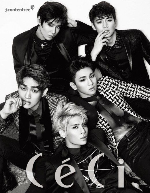 SHINee come together for the cover of 'CeCi' + cover story film | allkpop.com