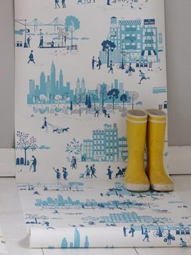 Morning in Manhattan wallpaper by Famille Summerbelle