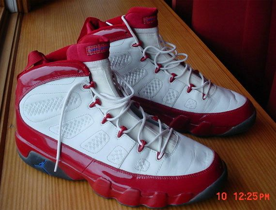 3d2a66ad197b36 Young Air Jordan IX Boys Shoe Quentin Richardson Los Angeles Clippers Noble  White Cym Red
