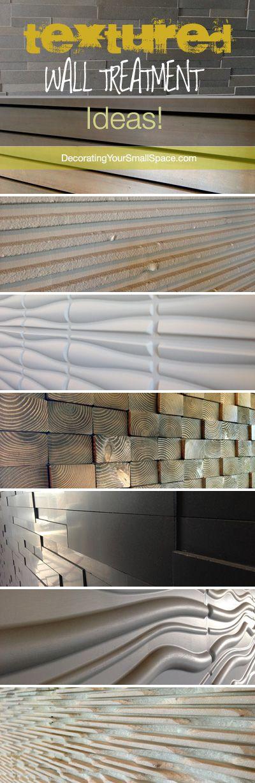 Textured Wall Treatment Ideas!