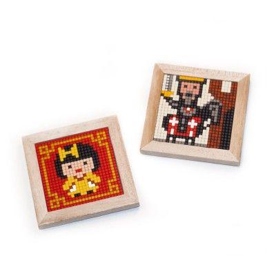 Leuke houten lijstjes om te vullen met Pixelhobby patronen! Knutselen met pixels!