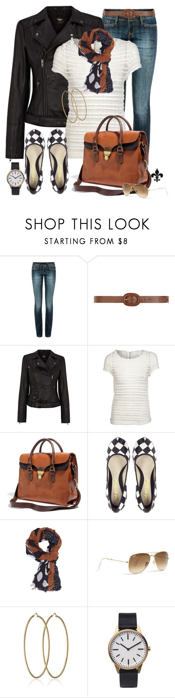 """""""FWF: Checkers and Dots"""" by hatsgaloore ❤ liked on Polyvore featuring MANGO, Dorothy Perkins, Oasis, Glamorous, Madewell, L.A.M.B., Ray-Ban, Carolina Bucci and Uniform Wares"""