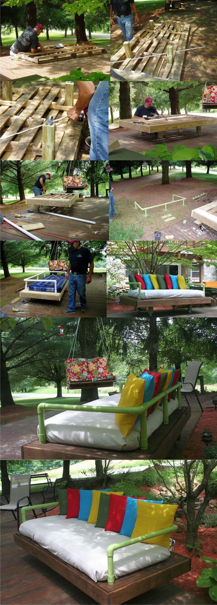 DIY Pallet Daybed - Sofá cama de día con palés