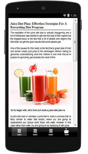 Looking for info on juicing diet plan, including recipes? YOU'VE FOUND IT!! That's because everything you need to start or sustain your healthy juicing diet is right here in this Juicing app...and it's FREE for a limited time!<p>With this robust and juici