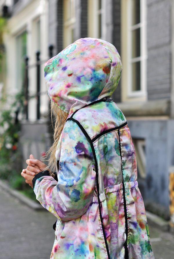 Technicolor dreamcoatRain Coats, Fashion, Clothing, Pastel Watercolors, Raincoat, Technicolour Dreamcoat, Dam Style, Technicolor Dreamcoat, Water Colors