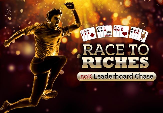 Race to Riches and Win Real Cash Today! Join the promotion and win maximum amount to lead the leaderboard to win Rs.50,000 in Cash Prizes!