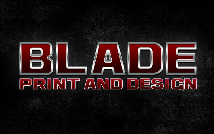 Blade Print Logo and Business Card