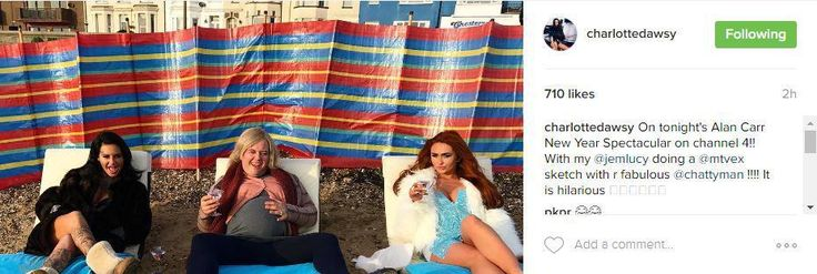 Jemma Lucy and Charlotte Dawson join Alan Carr and sip Martinis on deckchairs in hilarious Ex On The Beach skit