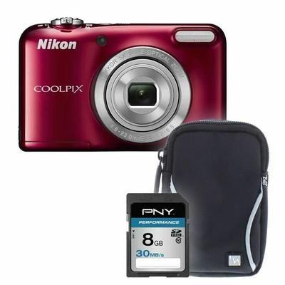 L31 rouge+ sacoche + carte 8Go - Appareil photo compact - Achat / Vente appareil photo compact - Soldes* d'hiver dès le 6 janvier Cdiscount
