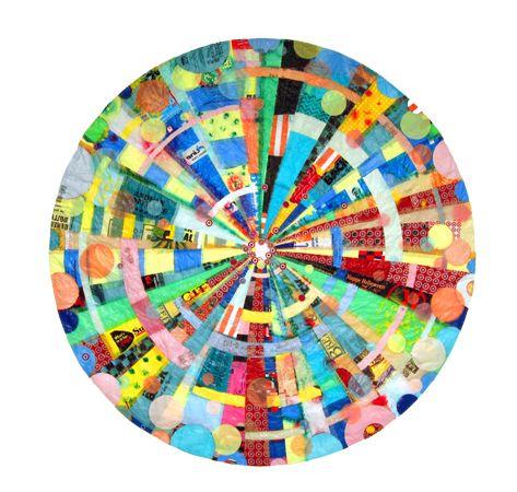 Artists Virginia, Plastic Bags, Plastic Recycle, Virginia Fleck, Mandalas Art, Sacred Mandalas, Mandala Art, Recycle Plastic, Bags Mandalas