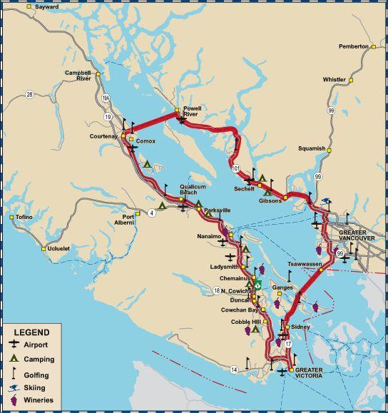 Coastal Circle Route Car Tour British Columbia
