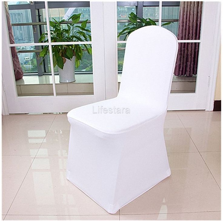 100pcs White Polyester Spandex Wedding Banquet Chair Covers Wholesale Universal | Home & Garden, Wedding Supplies, Venue Decorations | eBay!