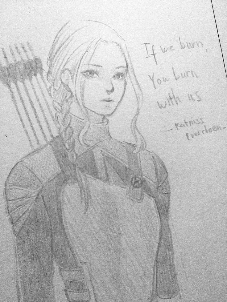 "Katniss Everdeen from The Hunger games: Mockingjay ( @zayquiones request) Sorry im late but hope u like it :""> (#matobakei)"