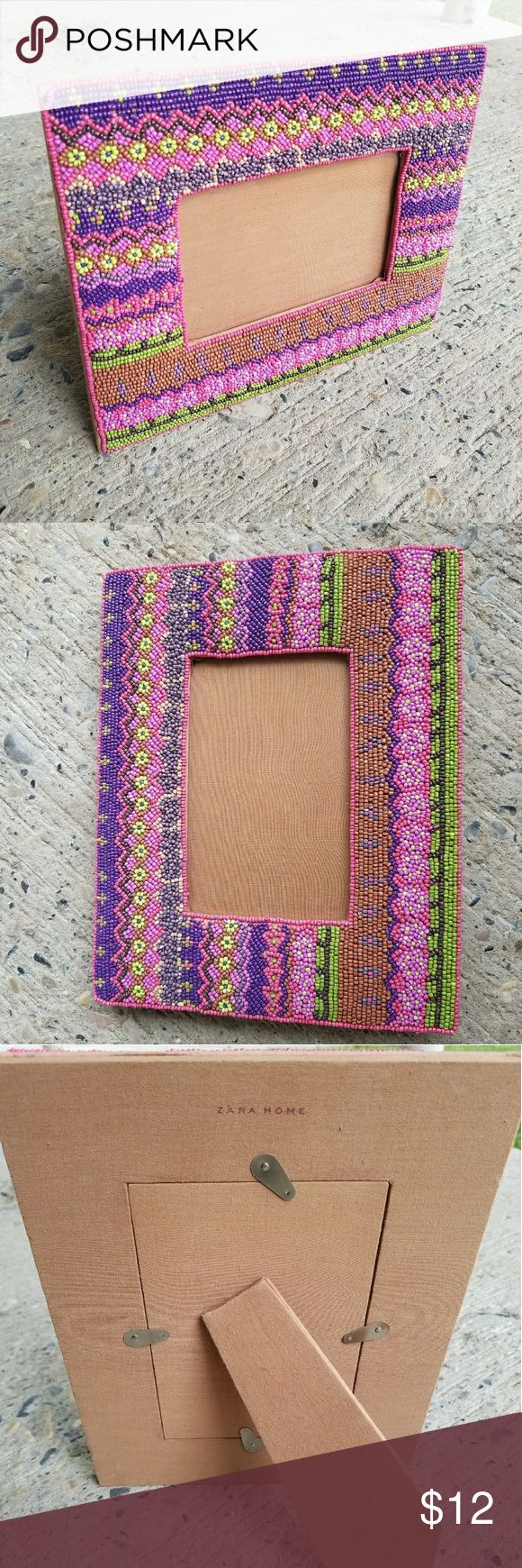 Zara Home picture frame ZARA HOME color beaded picture frame. Great condition. Zara Other