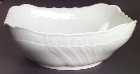 "Richard Ginori Bianco White (Vecchio Ginori Shape) 9"" Square Vegetable Bowl"