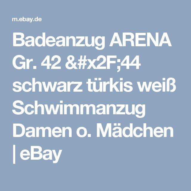 Badeanzug ARENA Gr. 42 /44 schwarz türkis weiß Schwimmanzug Damen o. Mädchen     eBay