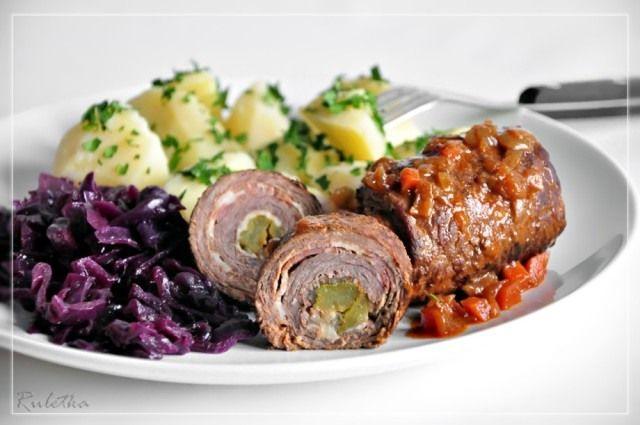 Рулетики из говядины с капустой и картофелем на гарнир. пошаговый рецепт с фотографиями