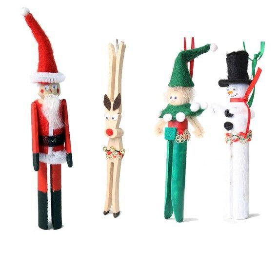 Christmas clothespin dolls
