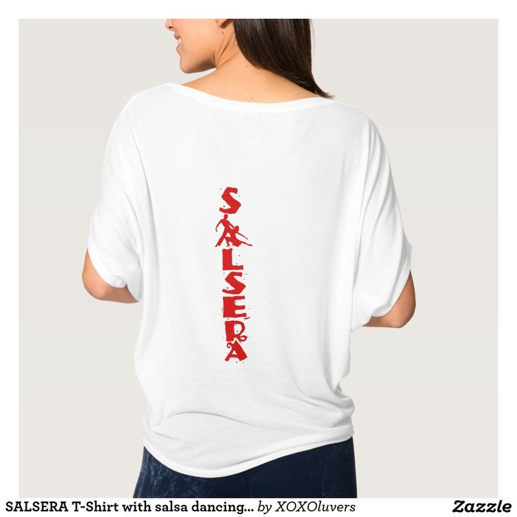 SALSERA T-Shirt with salsa dancing couple #zazzle #salsa #salsera #salsero #tshirts #dance #dancing #salsadancing