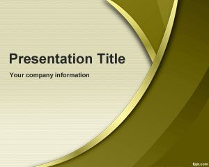 Gold Sublime PowerPoint Template is a free golden PowerPoint template that can be used as a free abstract background for presentations