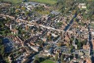 Aerial photograph of Farnham town centre