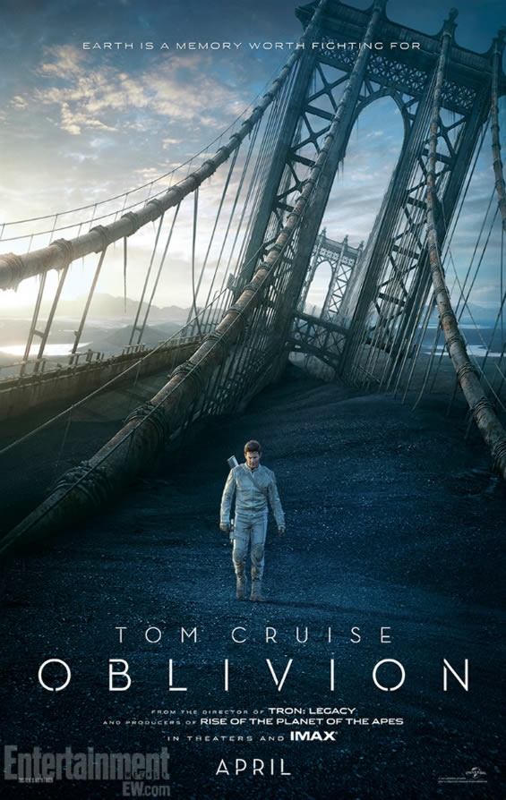 Oblivion: Two new posters with Tom Cruise and Morgan Freeman