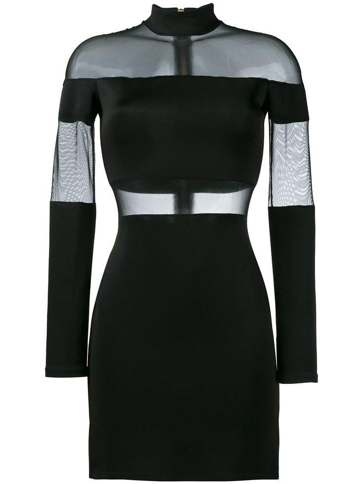 Balmain sheer panel mini dress
