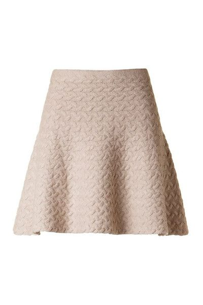 Home for the Holidays Cable Knit Skirt - Taupe