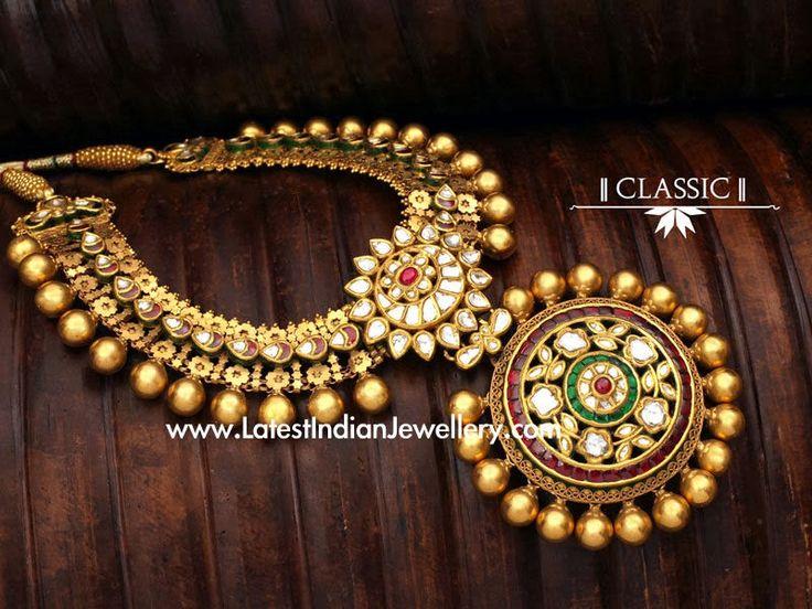 Kundan Antique Gold Necklace