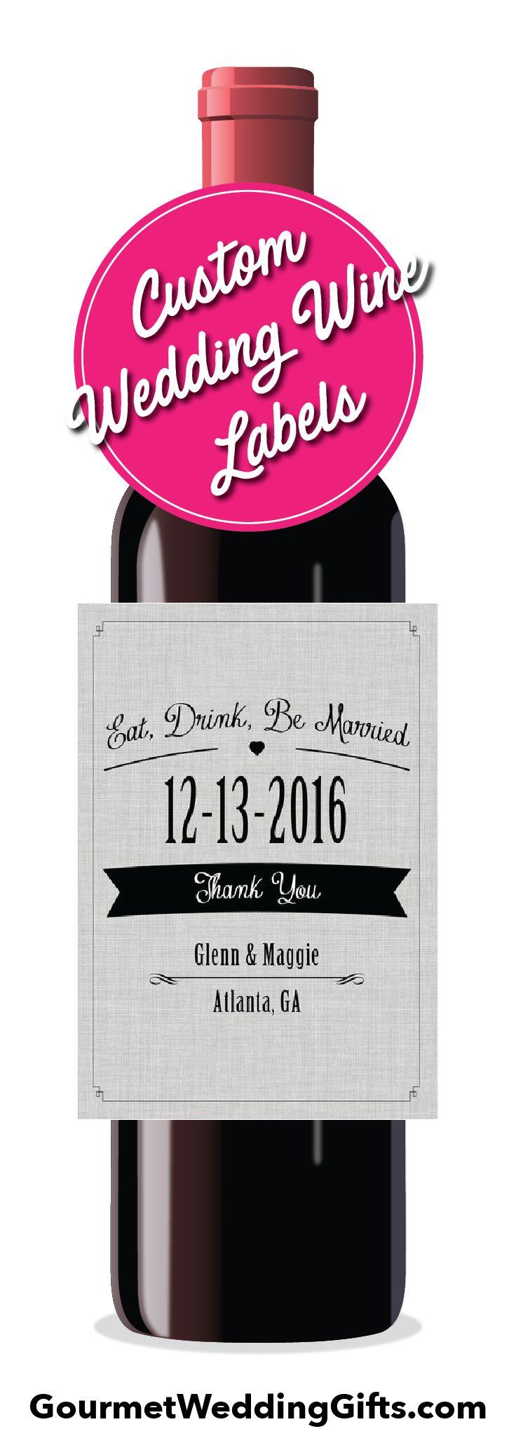 wine wedding shower gift poem%0A Personalized Wedding Wine Labels