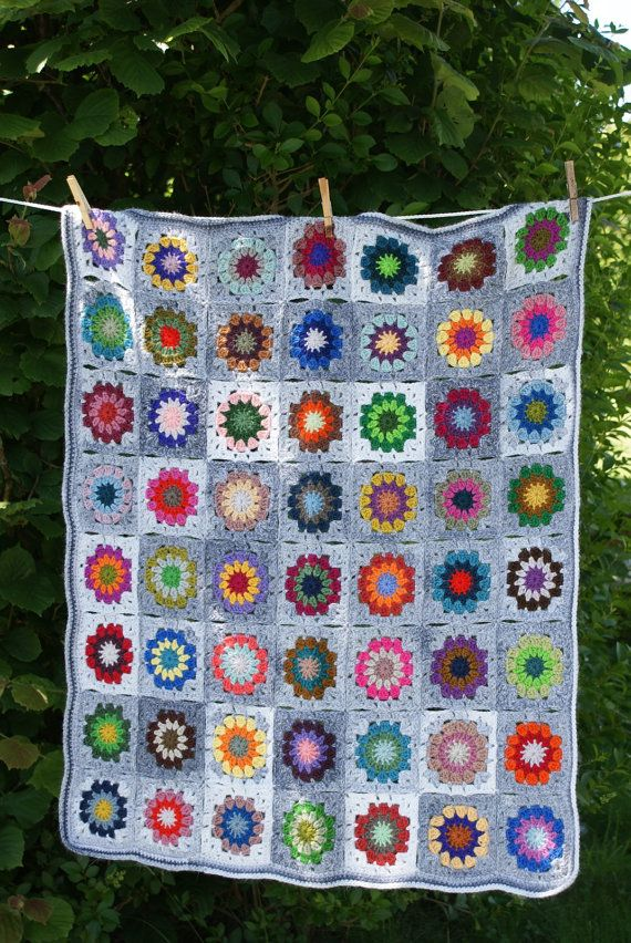 Petite Granny Square Blanket No 4....nice pictures in this store.