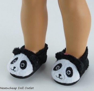 "Panda Bear Slippers Fits18"" American Girl Doll Clothes Bedroom Slippers Shoes"