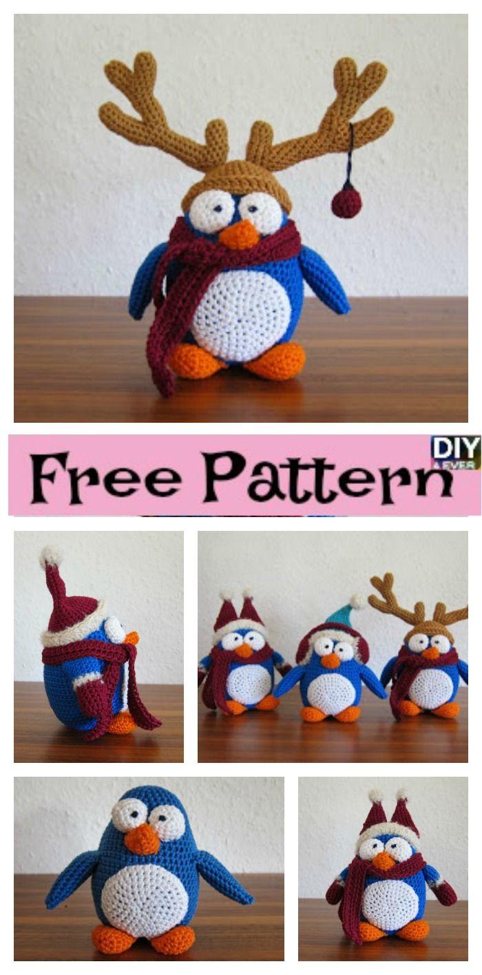 Adorable Crochet Winter Penguin – Free Pattern#freepattern