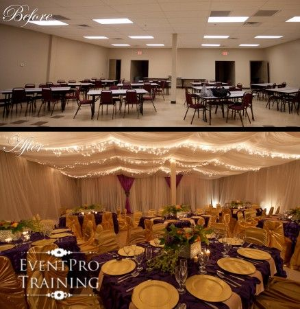 Before And After Event Ceiling And Wall Draping I Did This