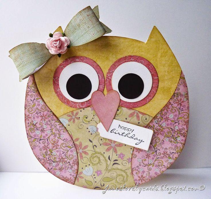 Jane's Lovely Cards : Owl Birthday Card