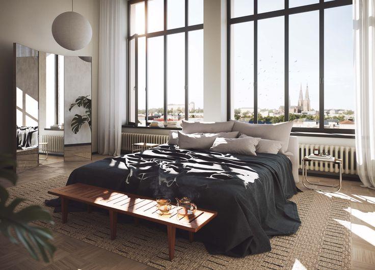 Uppsala, Oscar Properties, Bedroom, view, design, inspiration, sweden