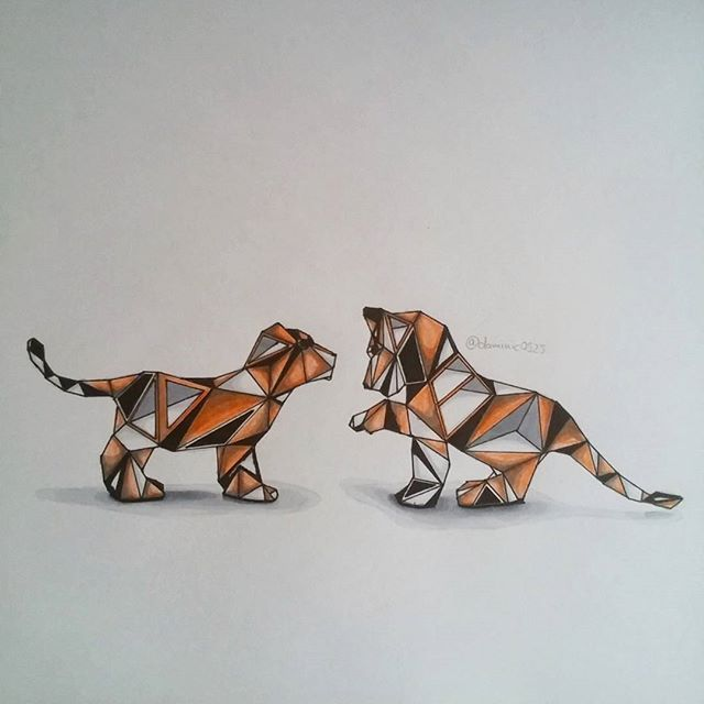 geometric tiger - Google Search