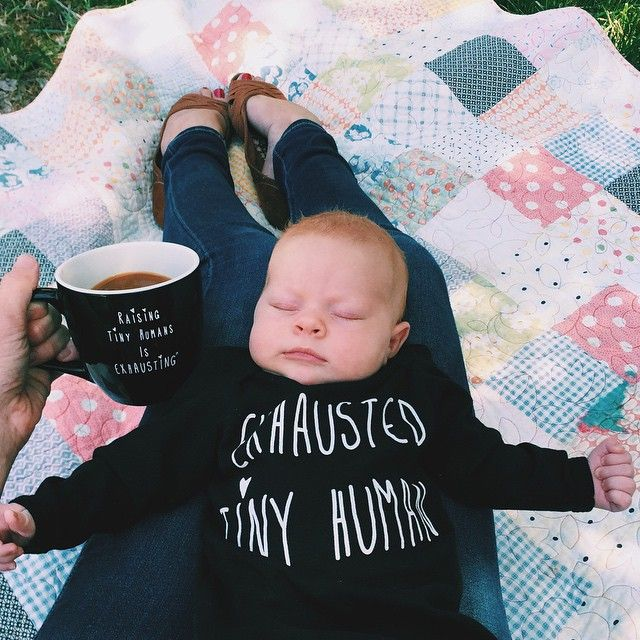 // (Does that say 'exhausted tiny human'? CUTE.)