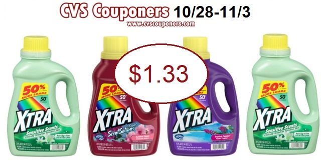 Cvs Couponers Cvs Couponers Xtra Laundry Detergent Only 1 33