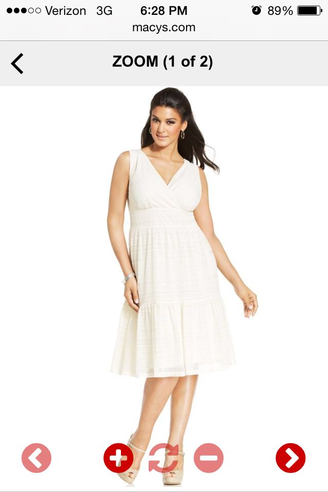 Summer wedding dress plus size from macy 39 s girly for Macys plus size wedding dresses