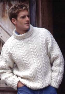 Cabled pullover with raglan shaping.. free pattern
