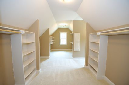 Need Closet Space? Get Creative and Head to the Attic!
