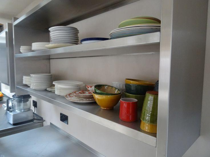 GEC Anderson modular stainless steel shelf units