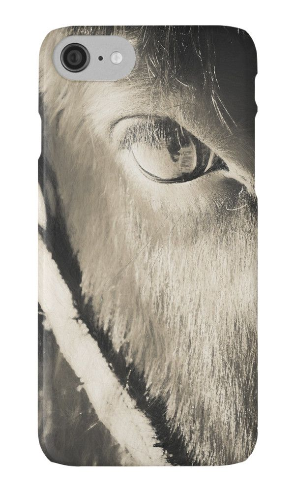 Horse Eye / L'oeil du cheval iPhone Cases & Skins by Galerie 503