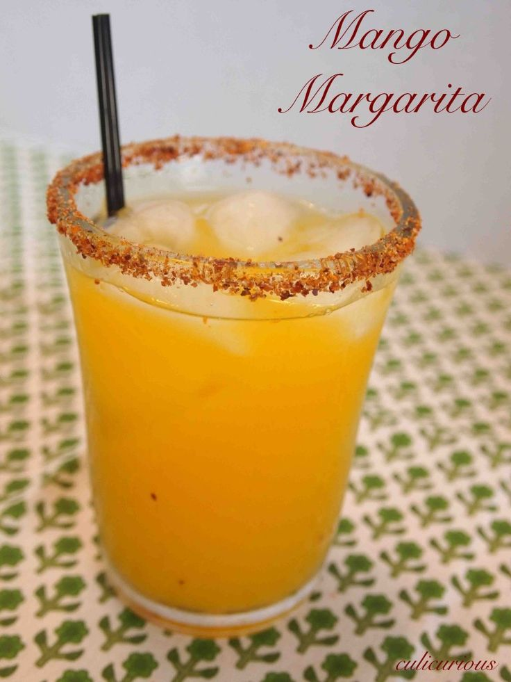 This mango margarita recipe is served on the rocks (my favorite way). line the rim of the glass with Tajin seasoning for a salty/spicy contrast. Enjoy!