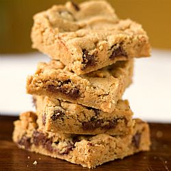 Peanut Butter Chocolate Chip Cookie Bars...one of my new favorites!!