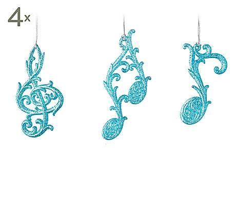 rbol de navidad set de adornos colgantes musicales azul brillante