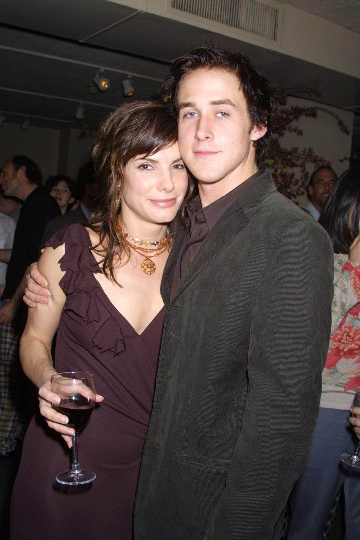 Pin for Later: 21 Famous Women Who Hit It Off With Younger Men Sandra Bullock and Ryan Gosling