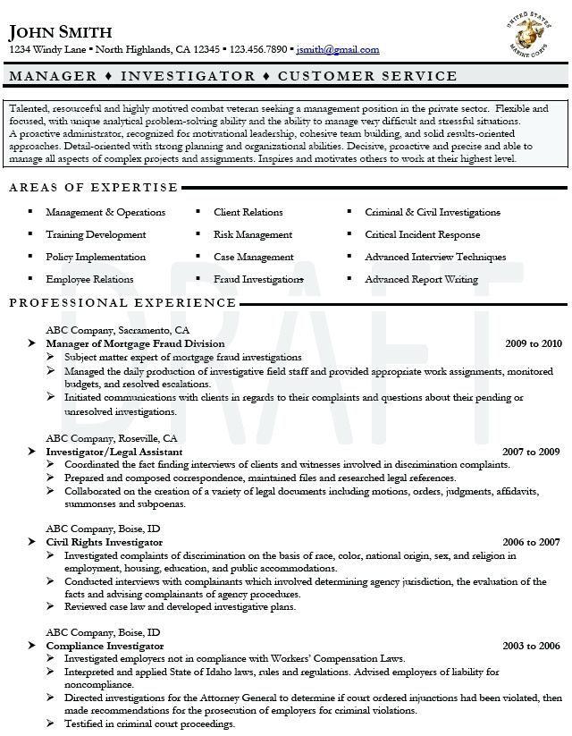 military veteran resume examples military veteran resume ...