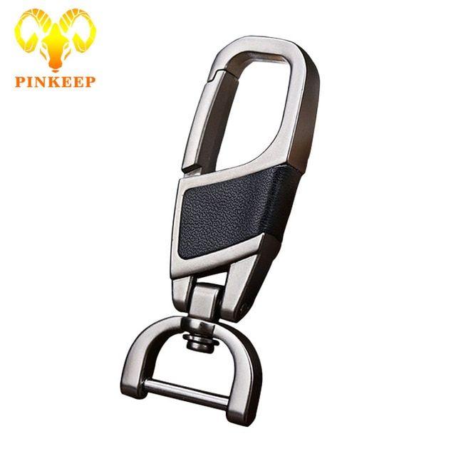 Classical Leather Metal Car Key Chain Keyring Keychain Key